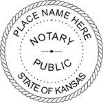 KS-NOT-RND - Kansas Round Notary Stamp