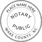 NC-NOT-RND - North Carolina Round Notary Stamp