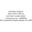 NM-NOT-1 - New Mexico Notary Stamp