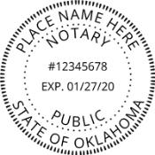 Oklahoma Round Notary Stamp