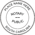 SC-NOT-RND - South Carolina Round Notary Stamp
