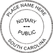 South Carolina Round Notary Stamp