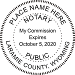 WY-NOT-RND - Wyoming Round Notary Stamp
